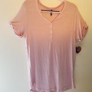 NWT Splash womans 2X short sleeve dusty pink n…